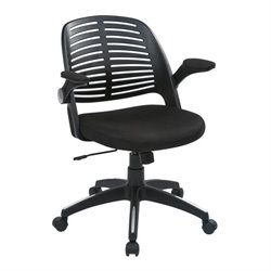 Avenue Six Tyler Black Office Chair With Frame in Black
