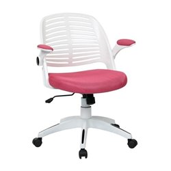 Avenue Six Tyler Pink Office Chair With Frame in White