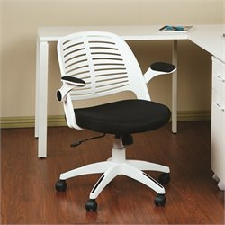 Avenue Six Tyler Black Office Chair With Frame in White