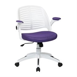 Avenue Six Tyler Purple Office Chair With Frame in White
