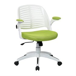 Avenue Six Tyler Green Office Chair With Frame in White