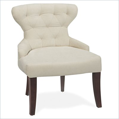 Avenue Six Curves Hourglass Chair in Oyster