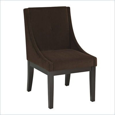 Avenue Six Curves Willow Chair in Brushed Chocolate