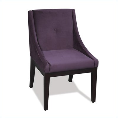 Avenue Six Curves Willow Chair in Purple Velvet