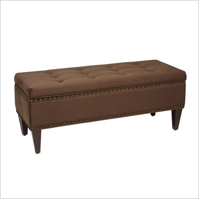 Avenue Six Estrella Storage Bench in Brushed Chocolate