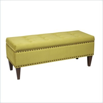 Avenue Six Estrella Storage Bench in Brushed Basil
