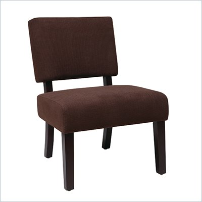 Avenue Six Jasmine Accent Chair in Finesse Walnut