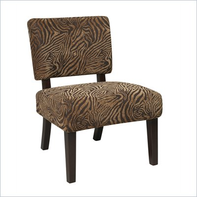 Avenue Six Jasmine Accent Chair in Wild Espresso