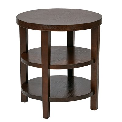 Avenue Six Merge 20&quot; Square End Table in Espresso