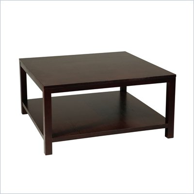 Avenue Six Merge 36&quot; Square Coffee Table in Espresso