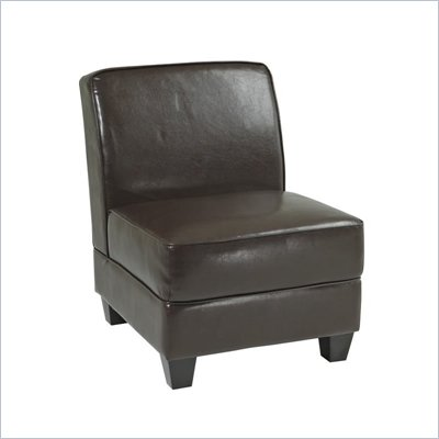 Avenue Six Milan Chair in Espresso Bonded Leather