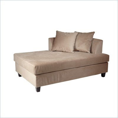 Avenue Six Regent Chaise (Reversible) in Coffee Velvet