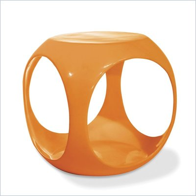 Avenue Six Slick Cube Modern Occasional Table in Orange