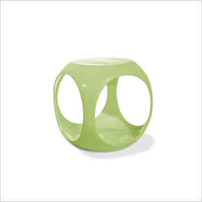 Avenue Six Slick Cube Modern Occasional Table in Green 