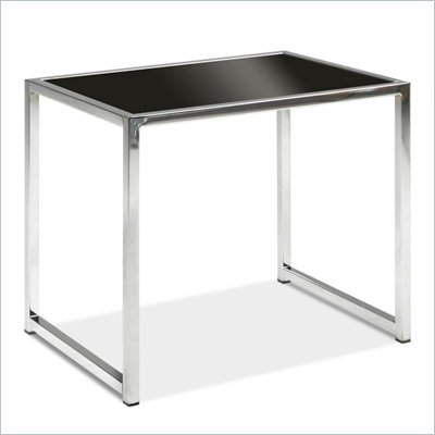 Avenue Six Yield Black Glass End Table