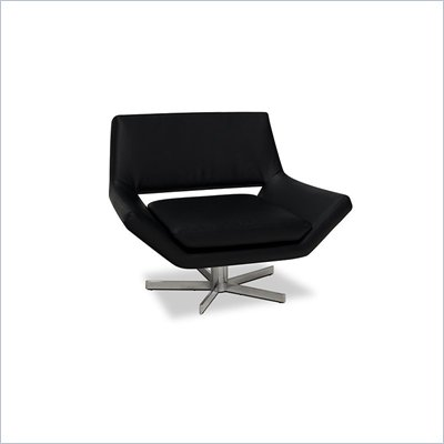 Avenue Six Yield 41 Inch Wide Swivel Chair in Black 