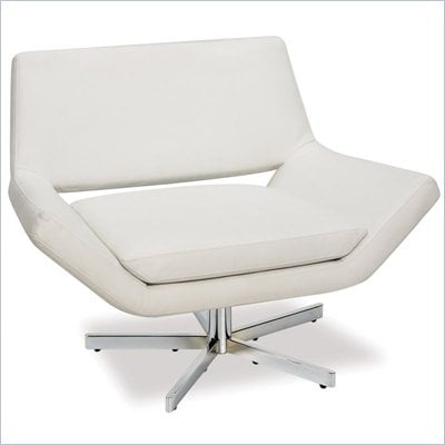 Avenue Six Yield 41 Inch Wide Swivel Chair in White