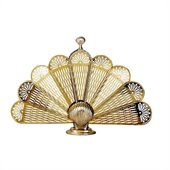 Uniflame Medium Polished Brass Shell Fan Screen