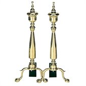 Uniflame Solid Brass Urn Andirons