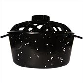 Uniflame Black with White Speckles Porcelain Coated Lattice Top Steamer