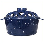 Uniflame Blue with White Speckles Porcelain Coated Lattice Top Steamer