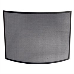 Uniflame Single Panel Curved Black Screen