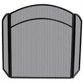 Uniflame 3 Fold Black Wrought Iron Arch Top Screen