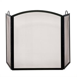 Uniflame 3 Fold Wrought Iron Black Arch Top Large Screen