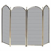 Uniflame 4 Fold Polished Brass Screen
