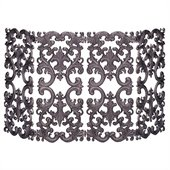 Uniflame 4 Fold Bronze Cast Aluminum Fireplace Screen