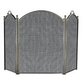 Uniflame 3 Fold Satin Pewter Screen