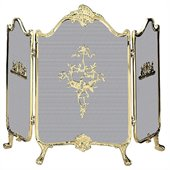 Uniflame 3 Fold Ornate Fully Cast Solid Brass Screen