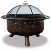 Uniflame Wood Burning Bronze Outdoor Fire Pit