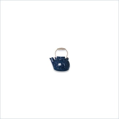 Uniflame 2.5 Quart Porcelain Coated Kettle  Blue With White Speckles