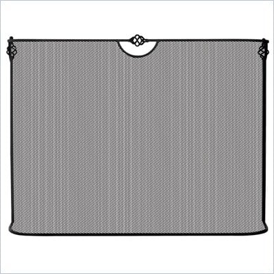 Uniflame Single Panel Black Wrought Iron Sparkguard