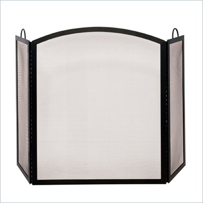 Uniflame 3 Fold Black Wrought Iron Medium Screen