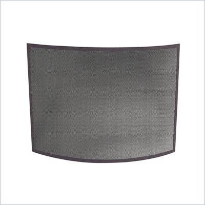 Uniflame Single Panel Curved Bronze Wrought Iron Screen