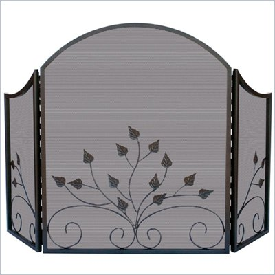 Uniflame 3 Fold Arch Top Graphite Screen with Leaves