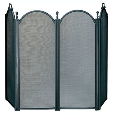 Uniflame 4 Fold Large Diameter Black Screen with Woven Mesh