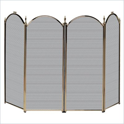 Uniflame 4 Fold Antique Brass Screen