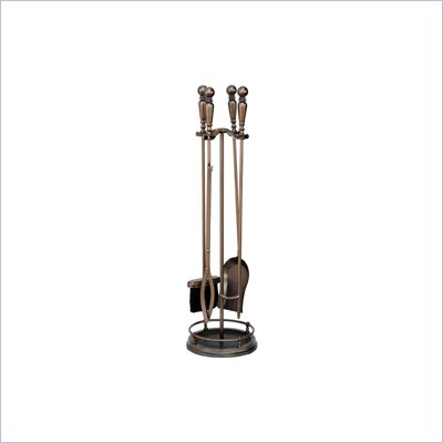 Uniflame 5 Piece Venetian Bronze with Ball Handle Fireset