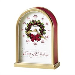 Howard Miller Carols of Christmas II Musical Table Top Clock
