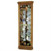 Howard Miller Legacy Oak Dominic Corner Curio Cabinet