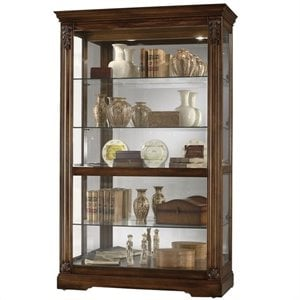Howard Miller Ramsdell Curio Cabinet in Tuscany Cherry