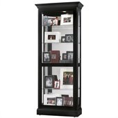 Howard Miller Berends Curio Cabinet in Black Satin