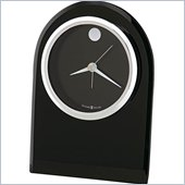 Howard Miller Logan Table Desk Alarm Clock in Black and Silver
