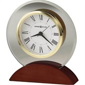 Howard Miller Dana Table Top Clock in a Satin Rosewood Finish