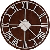 Howard Miller Prichard 15 Wall Clock  in Satin Nickel Finish