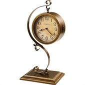 Howard Miller Jenkins 21 Tall Mantel Clock in Antique Brushed Brass