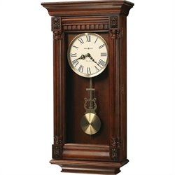 Howard Miller Lewisburg Wall Clock in Tuscany Cherry Finish
